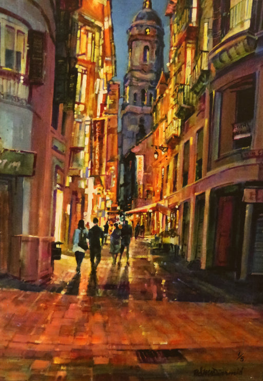 "Date Night  - Acrylic on Canvas (Mixed Media Giglee 1/5) by Richard McDiarmid. 28""(W)x20""(H) - RM178-001MM"