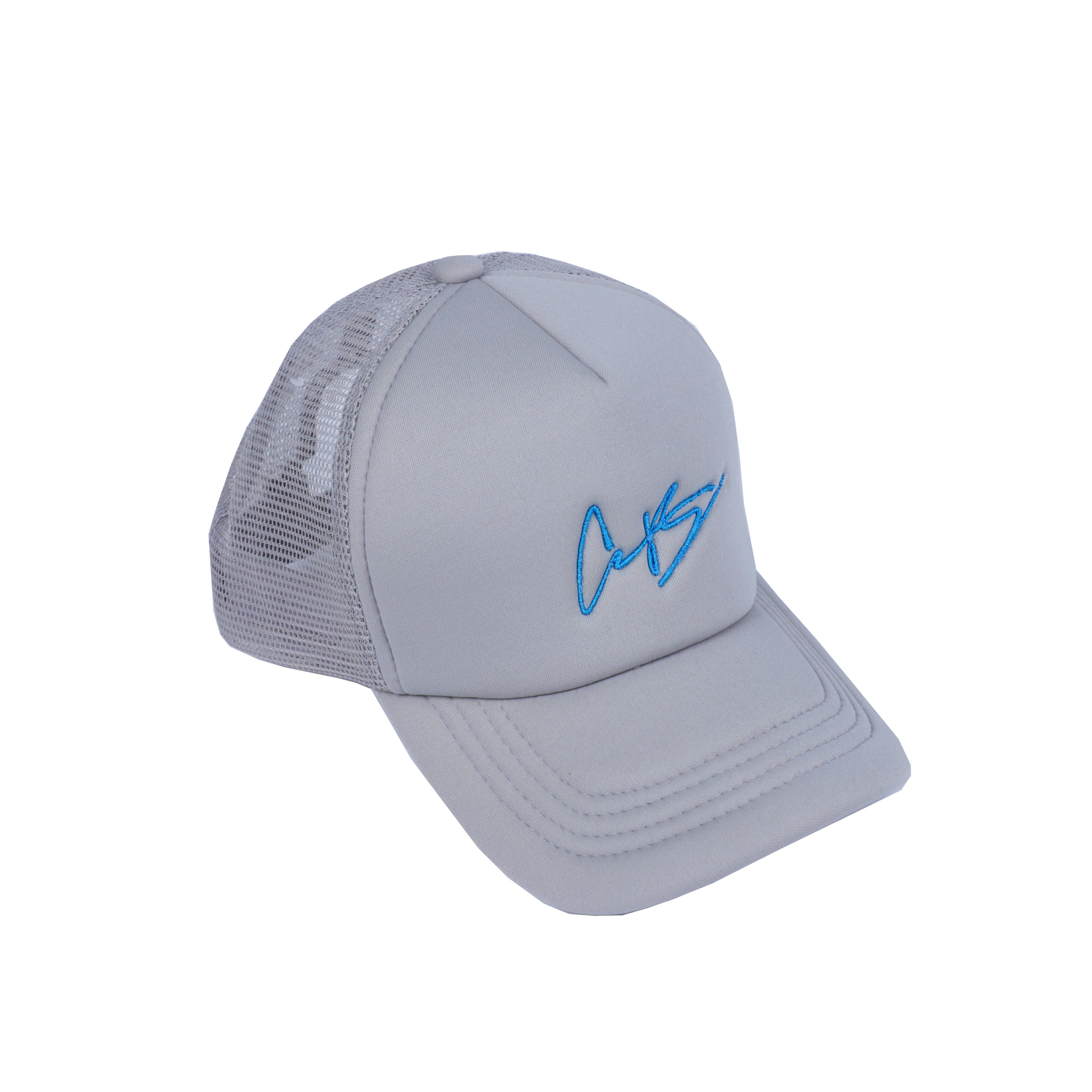 "CB Signature "" California Blue"" Trucker Cap."