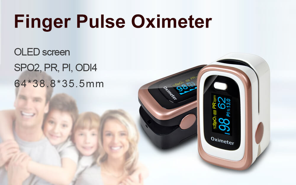 Finger Pulse Oximeter 4 Parameter