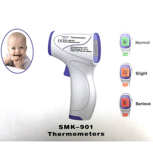 Forehead and Ear Thermometer,Infrared Digital Thermometer Suitable for Baby and Adults Non-contact Temperature Measurement Device - sinokmed