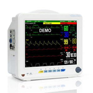 SNP9000N Patient Monitor with Multi-parameter to Monitor Vital Sign ECG, SpO2,NIBP, TEMP,RESP,PR,HR 12.1 Inch