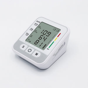 Automatic Digital Upper Arm Blood Pressure Monitor with Cuff fits Large Arm Electronic Meter Measures Pulse Rate - sinokmed