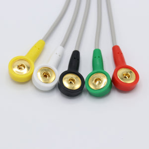 Compatible Philips ECG Cable 5 Leadwires 12 pin Snap IEC European Standard Connector - sinokmed