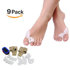 Sino-K Toe Separators Bunion Corrector Relief Pads Protector Straightener Kit