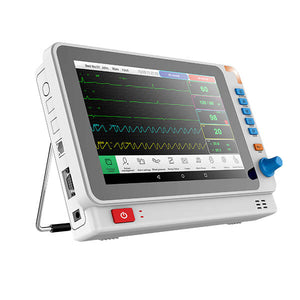PM10A Patient Monitor with 6 Parameter to Monitor Vital Sign ECG NIBP RESP TEMP SPO2 PR 10.1 Inch - sinokmed