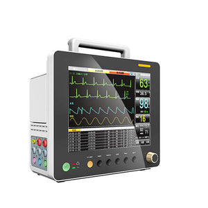 PM12A Patient Monitor with 6 Parameter to Monitor Vital Sign ECG NIBP RESP TEMP SPO2 PR 12.1 Inch - sinokmed