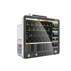 PM15A Patient Monitor with 6 Parameter to Monitor Vital Sign ECG NIBP RESP TEMP SPO2 PR 15 Inch - sinokmed