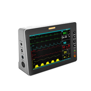 PM80A Patient Monitor with 6 Parameter to Monitor Vital Sign ECG NIBP RESP TEMP SPO2 PR 8  Inch - sinokmed