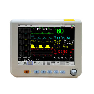PM80D Patient Monitor with 6 Parameter to Monitor Vital Sign ECG NIBP RESP TEMP SPO2 PR 8 Inch - sinokmed