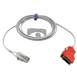 Compatible Masimo Spo2 Sensor Adult Ear Clip 9.8 ft 20-pin connector - sinokmed