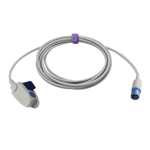Compatible Draeger Siemens Spo2 Sensor Pediatric Clip 9.8 ft 7 Pins Connector - sinokmed