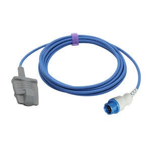 Compatible Philips M1190A Spo2 Sensor Adult Soft 9.8 ft 12 Pins Connector - sinokmed