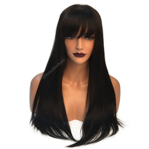 Indian Yaki Straight with Bangs