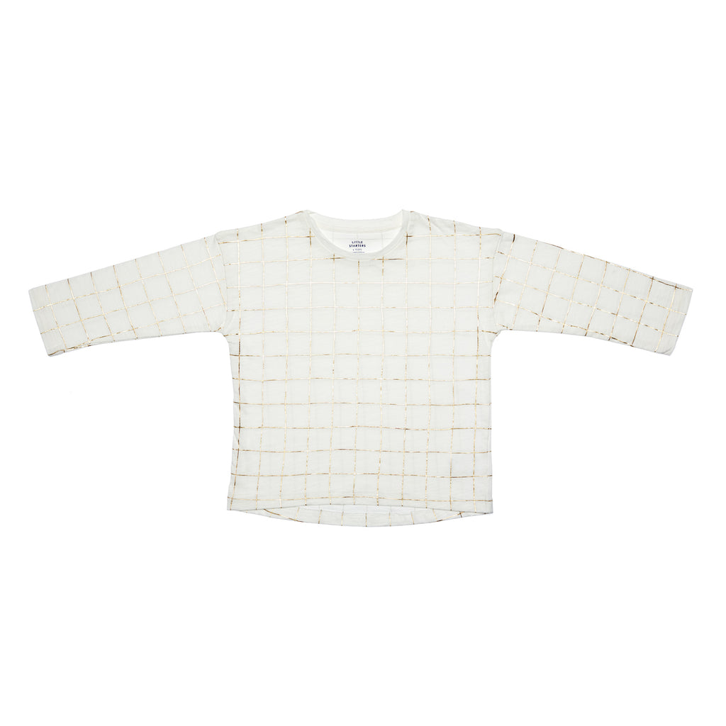 Gold Grid Top