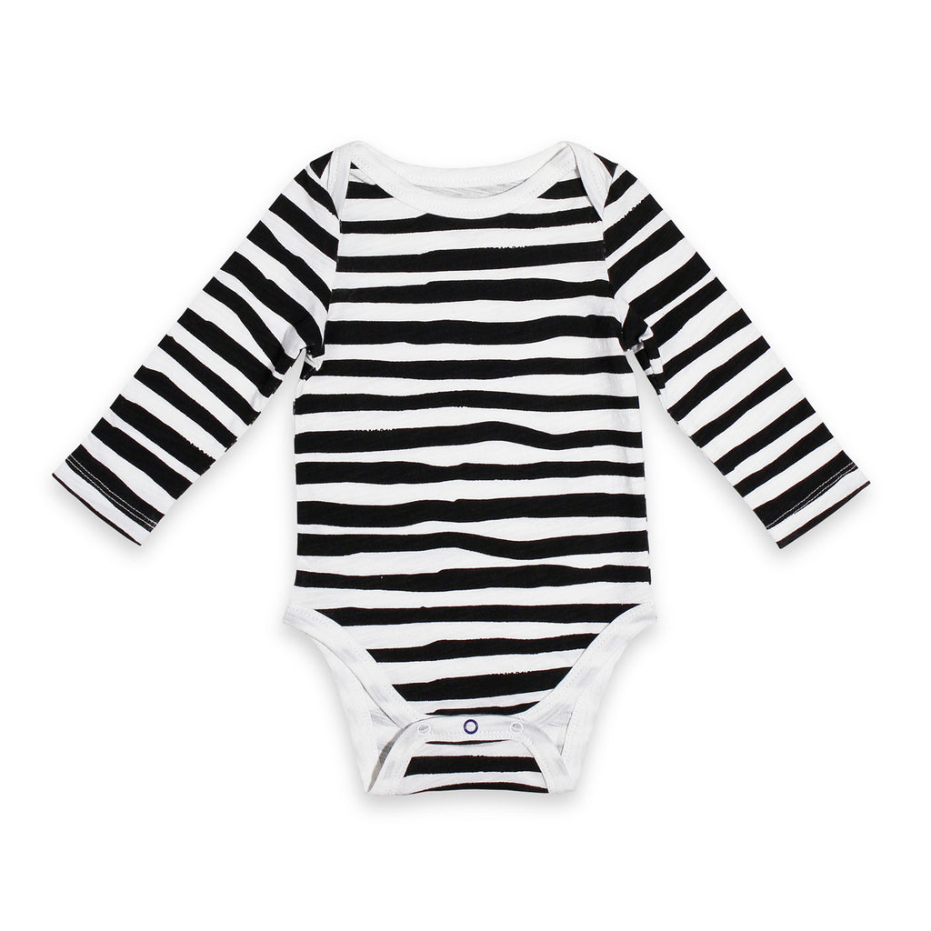 Long Sleeve Painted Stripe Onesie