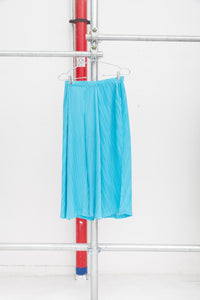 Pleats Please Light Blue Wide Pant Pleated Ensemble