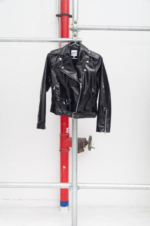 Jean Paul Gaultier Black PVC Riders Jacket