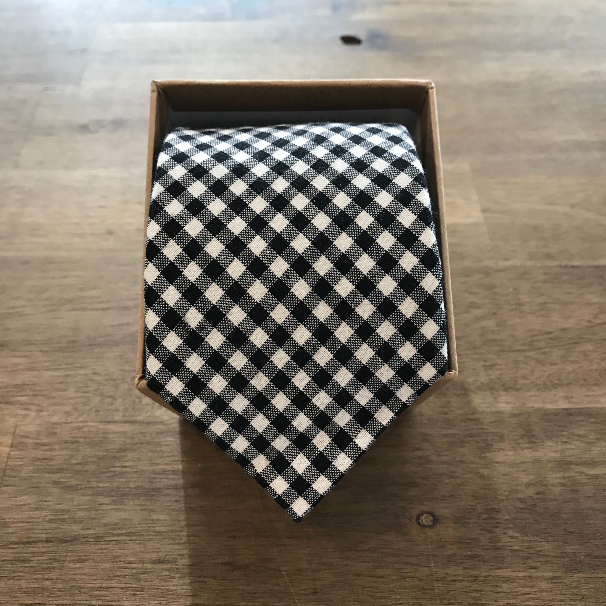 Ortc MAN - Black Gingham Check Neck Tie
