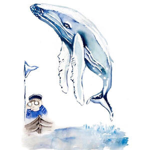 Little Rae Prints - Boy and Whale small