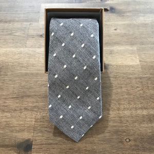 Ortc MAN - Grey Polka Neck Tie