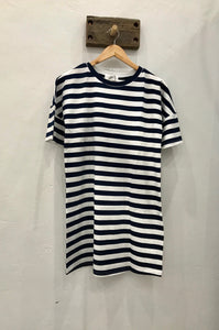 Annie T-shirt Dress - Navy Stripe