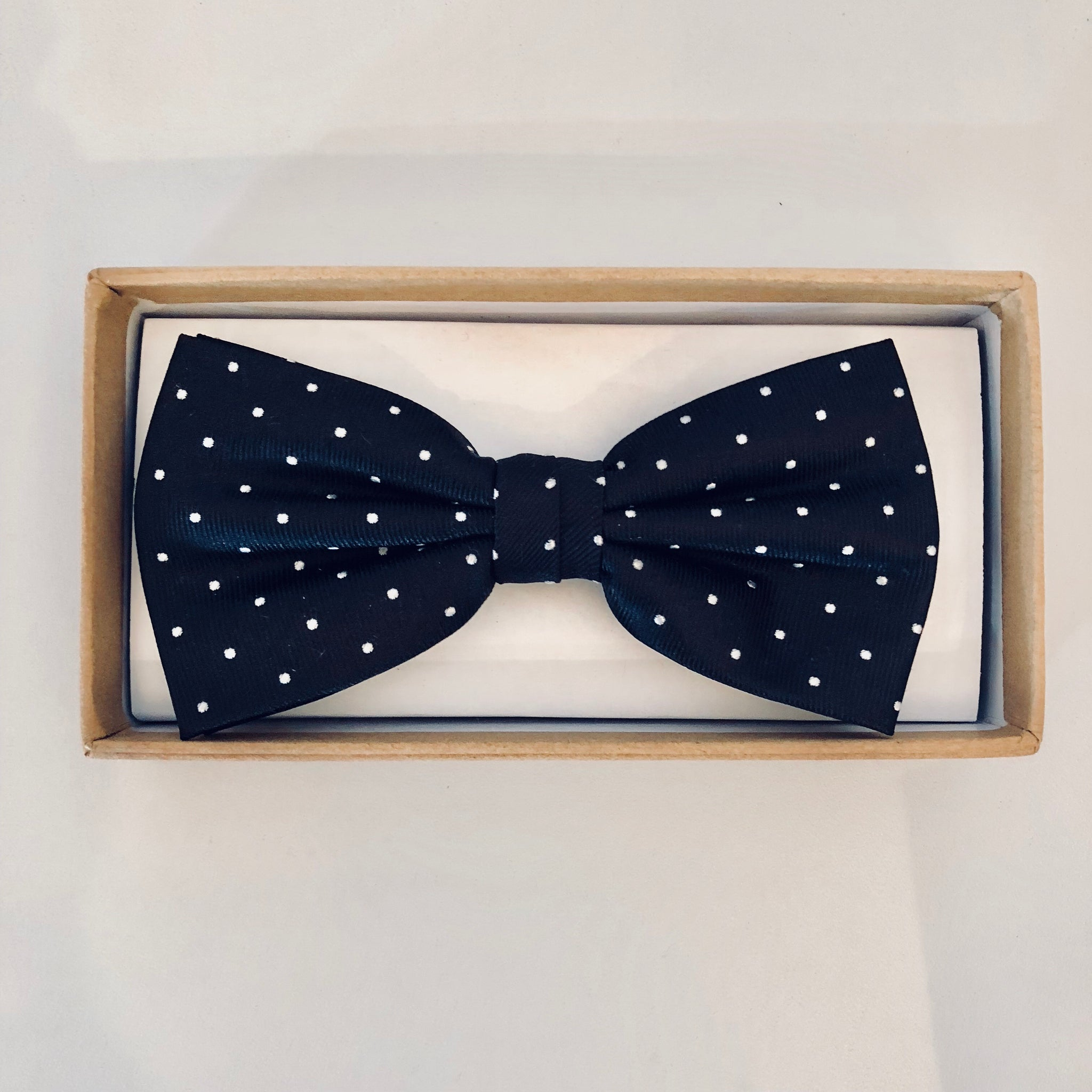 Ortc MAN - Black and White Polka Bow Tie