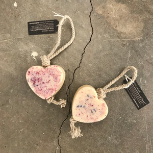 Dindi - Rose Geranium Heart Soap on Rope