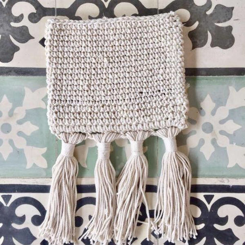 Crochet Clutch - Cream