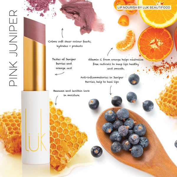 Lük Beautifood Lip Nourish Lipstick - Pink Juniper