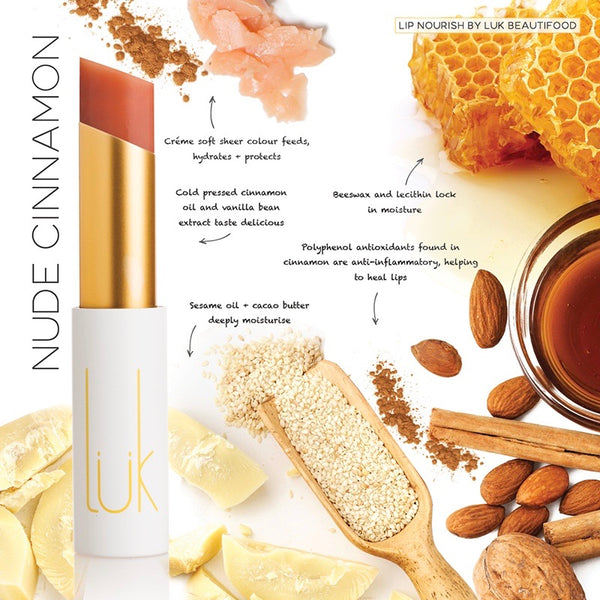 Lük Beautifood Lip Nourish Lipstick - Nude Cinnamon