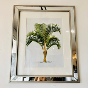 Palm Tree Print with Mirror Frame