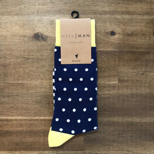 Ortc MAN - Yellow Striped Polka Socks