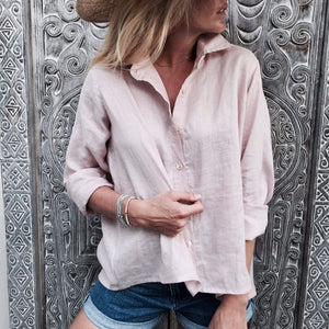 LJC Designs - Lizzie Linen Shirt - Dust Pink