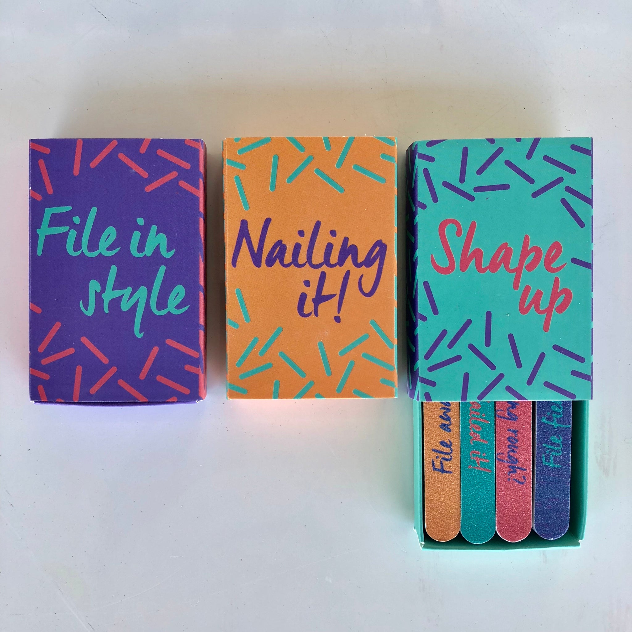 Mini Nail File Matchbox Set
