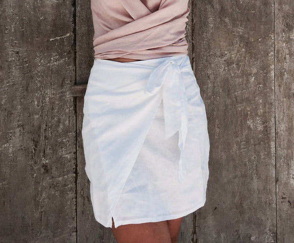 LJC Wrap Skirt - White