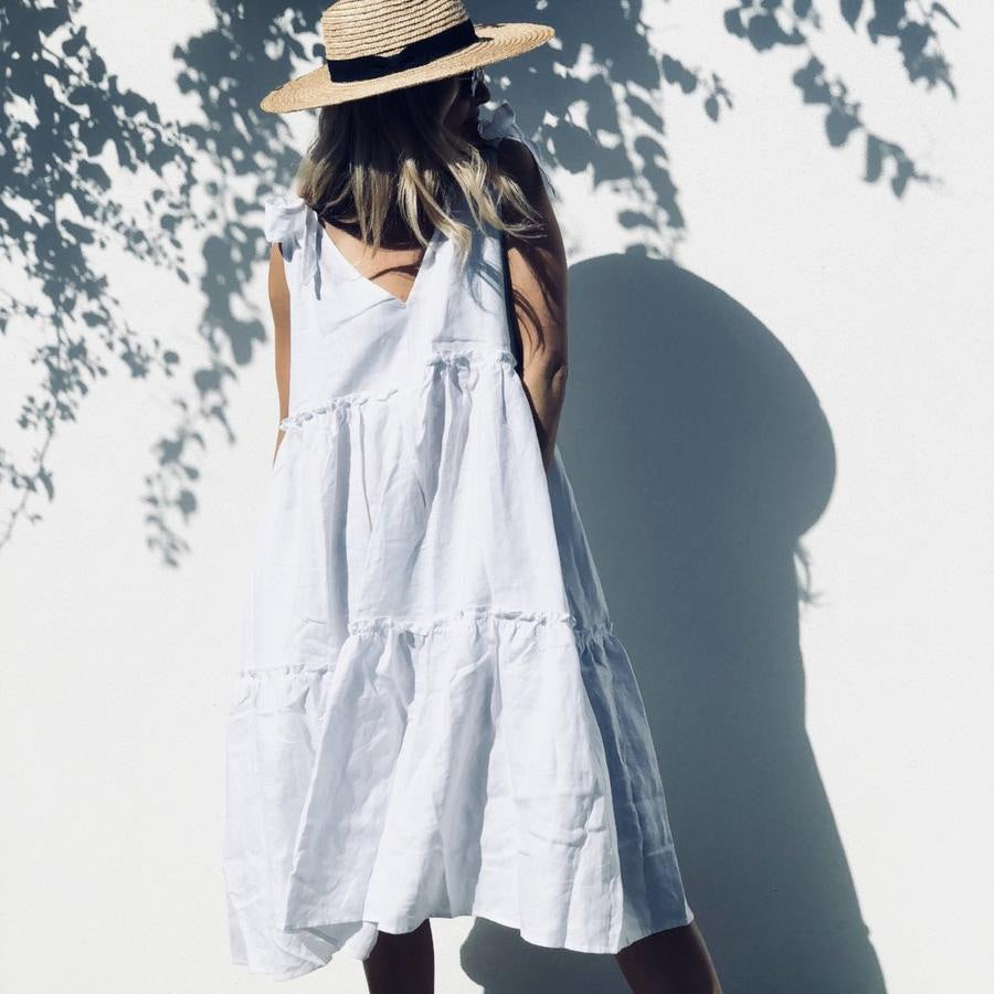 LJC Designs - Ostuni Smock Linen Dress