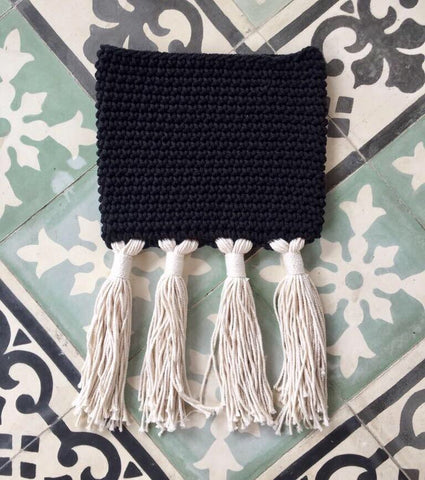 Crochet Clutch - Black