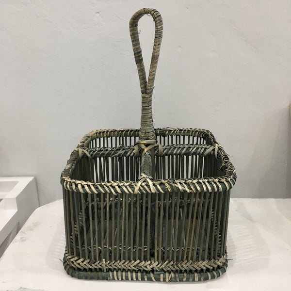Rattan Divided Caddy