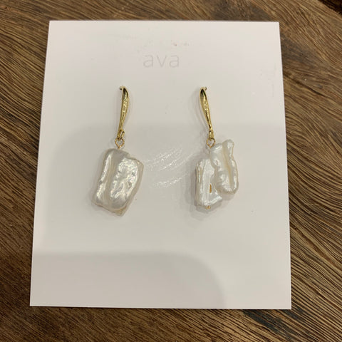 Ava Jewellery- Pearl Earrings