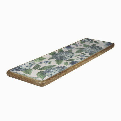 Madras Link - Hydrangea Rectangle Platter