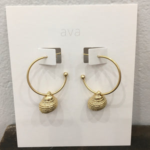 Ava Jewellery - Gold Shell Earrings