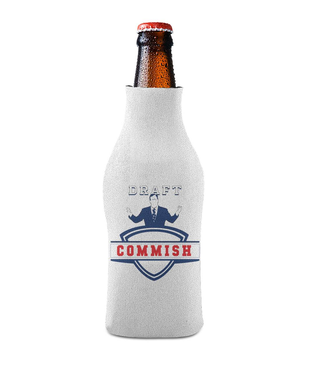 Commissioner's Koozie Bottle Sleeve - SaveTheDraft.com