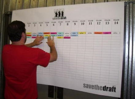 Fantasy Football Draft Board and Player Label Kit
