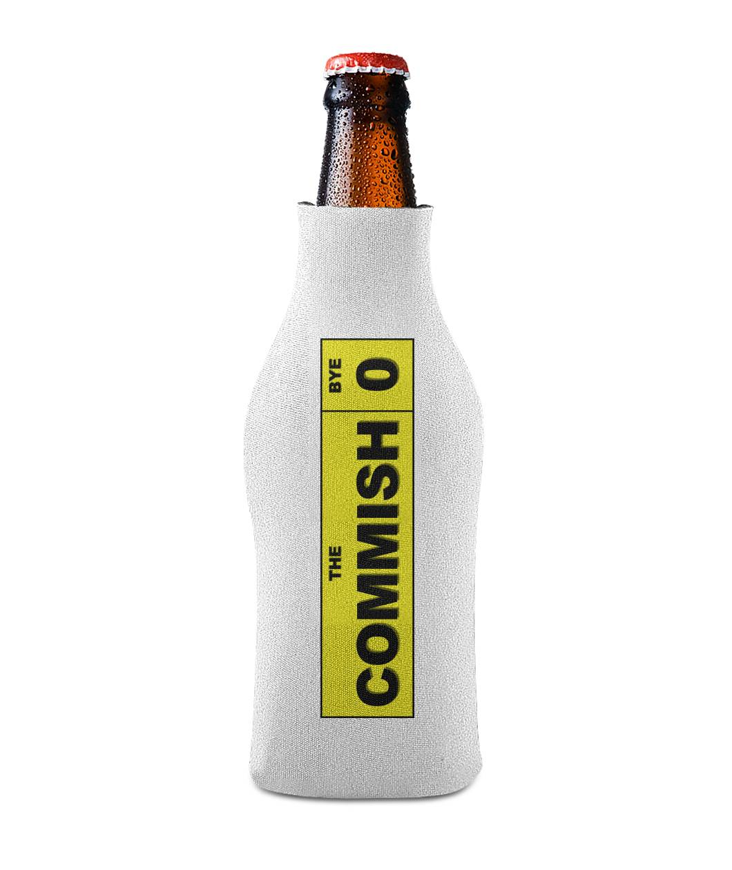 The Commish Label Koozie Bottle Sleeve - SaveTheDraft.com