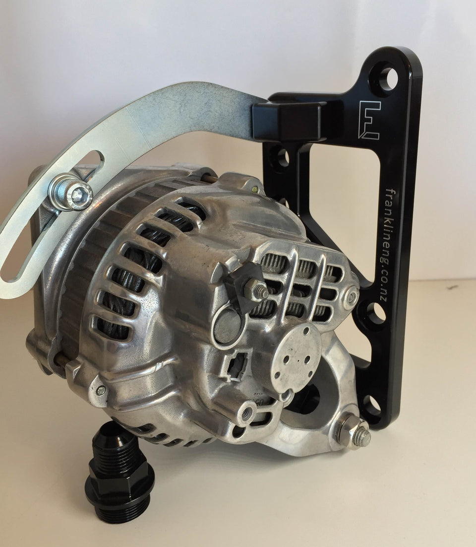 Mazda 12A & 13B Waterpump Adaptor & Side Mount Alternator Bracket Combo