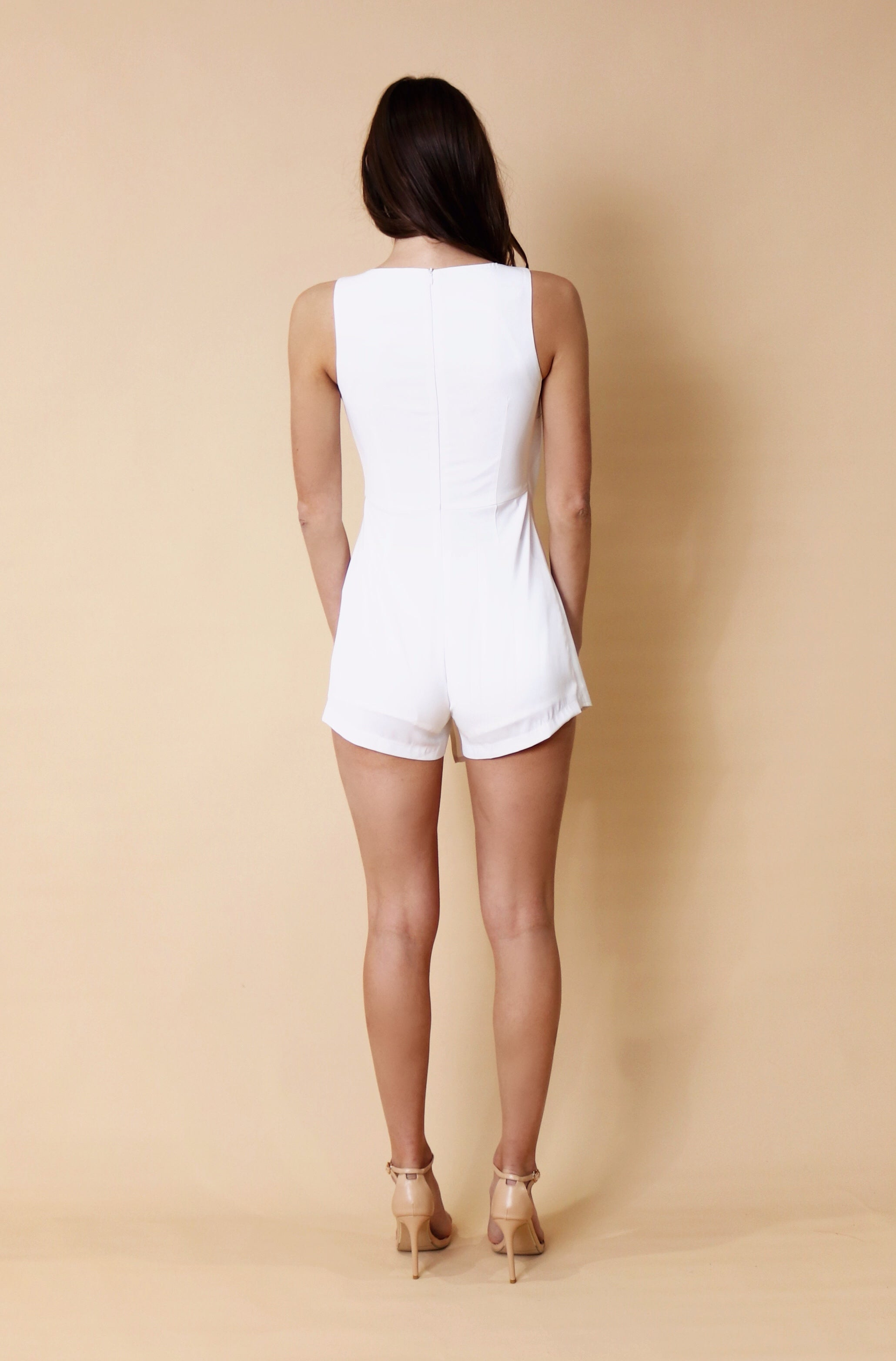 PAOLA PLAYSUIT - WHITE