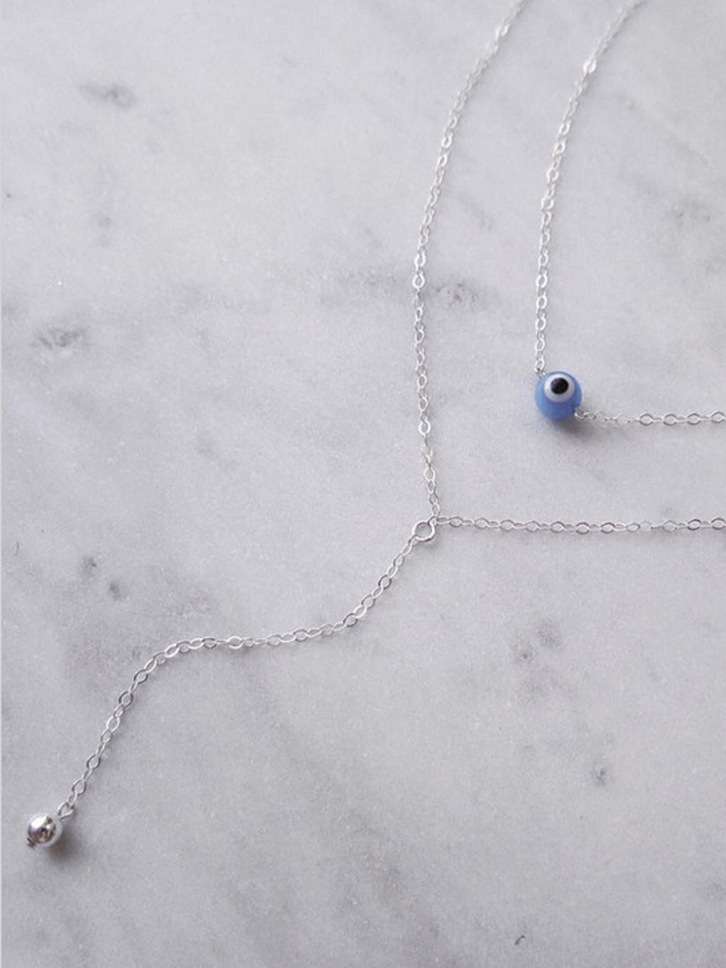 CLASSIC DROP NECKLACE - STERLING SILVER