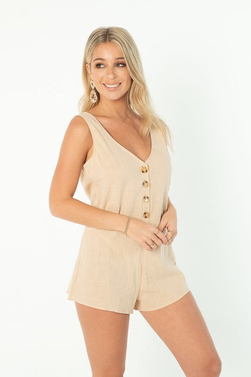 YOUNG HEARTS PLAYSUIT - BEIGE