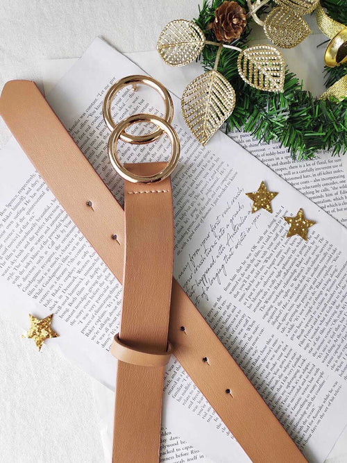 AURA BELT - TAN/GOLD