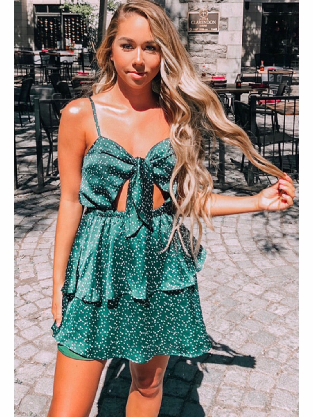 FLING DRESS - EMERALD GREEN